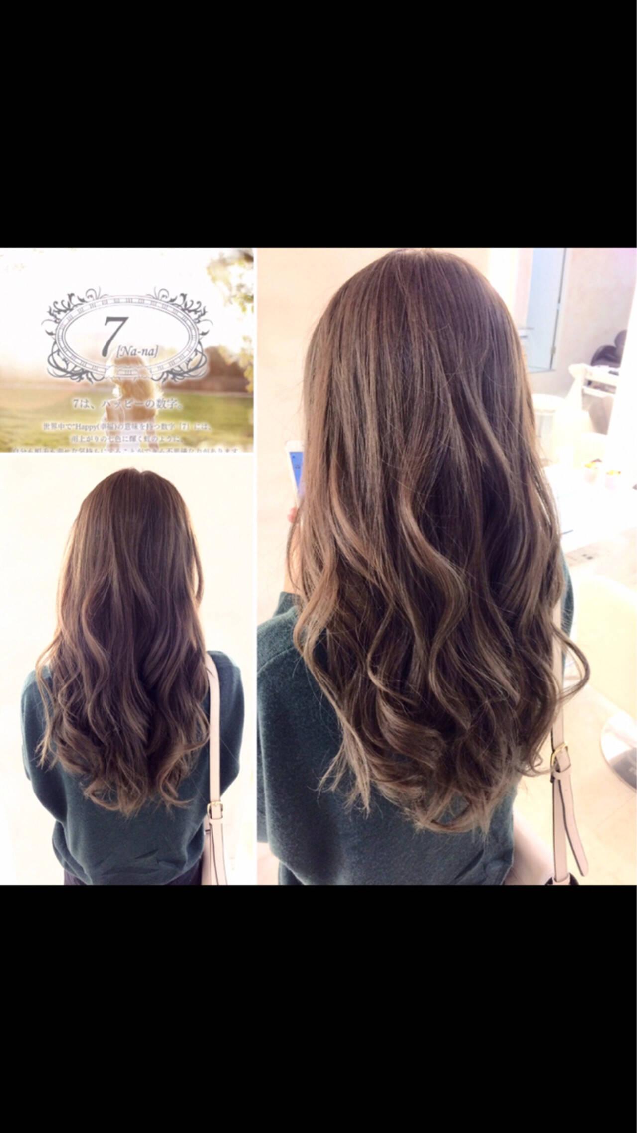 エレガント 上品 ロング イルミナカラーヘアスタイルや髪型の写真・画像