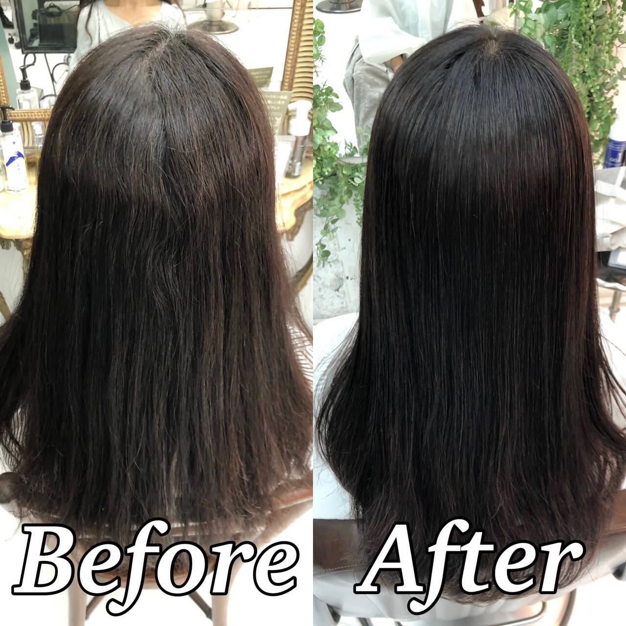 ナチュラル ツヤ髪 ロング 美髪ヘアスタイルや髪型の写真・画像