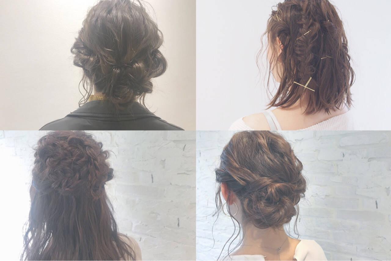 ショート 結婚式 デート ミディアムヘアスタイルや髪型の写真・画像