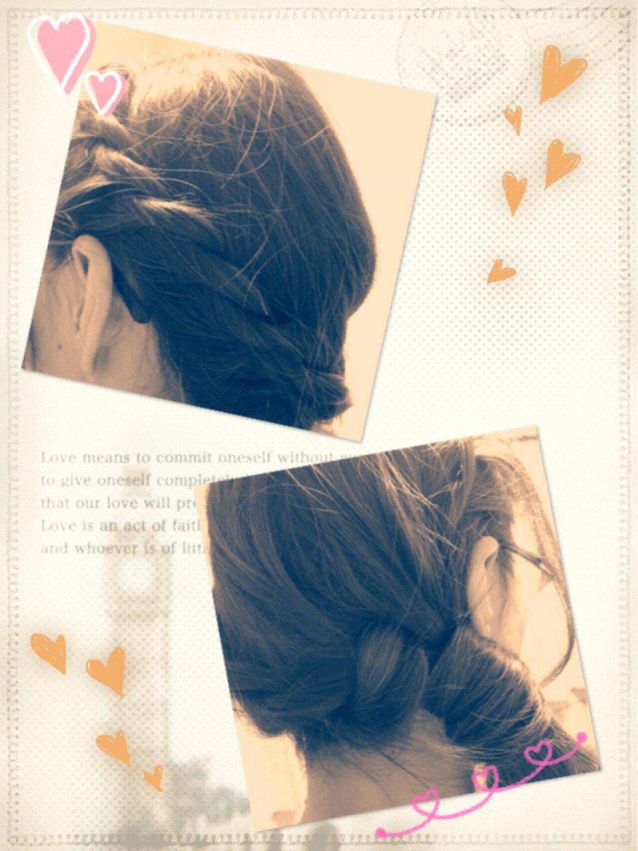 ゆるふわ ロープ編み コンサバ ヘアアレンジヘアスタイルや髪型の写真・画像