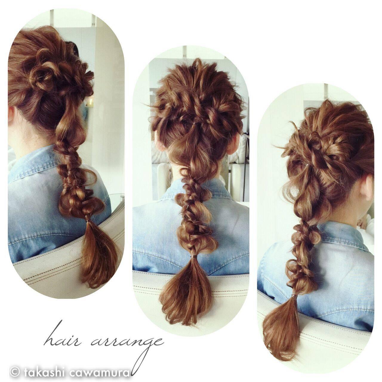 編み込み ストリート ヘアアクセ ヘアアレンジヘアスタイルや髪型の写真・画像