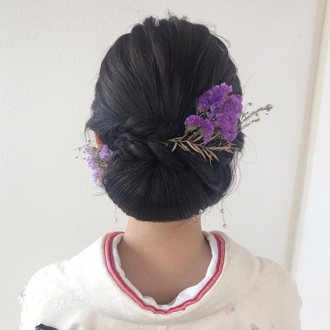 ロング 成人式ヘア エレガント ヘアセットヘアスタイルや髪型の写真・画像