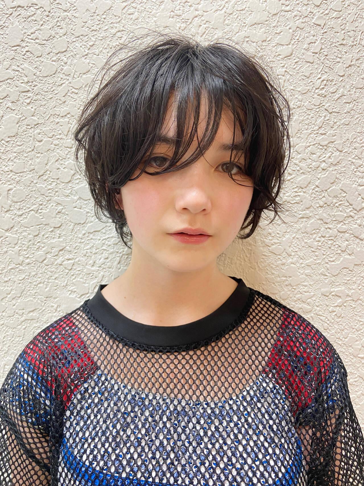 ショートヘア ショートボブ ショート ハンサムショートヘアスタイルや髪型の写真・画像