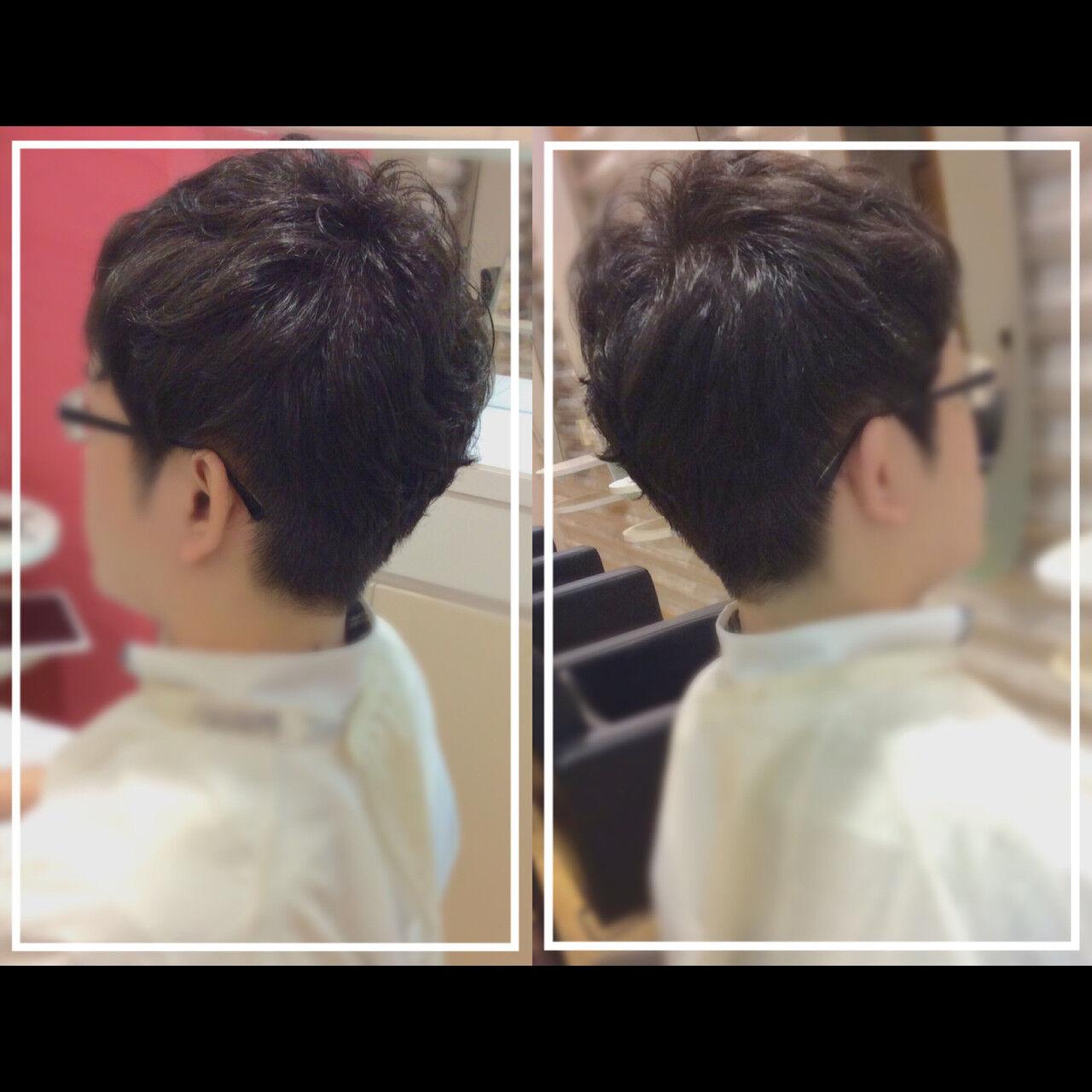 社会人の味方 ショート メンズ オフィスヘアスタイルや髪型の写真・画像