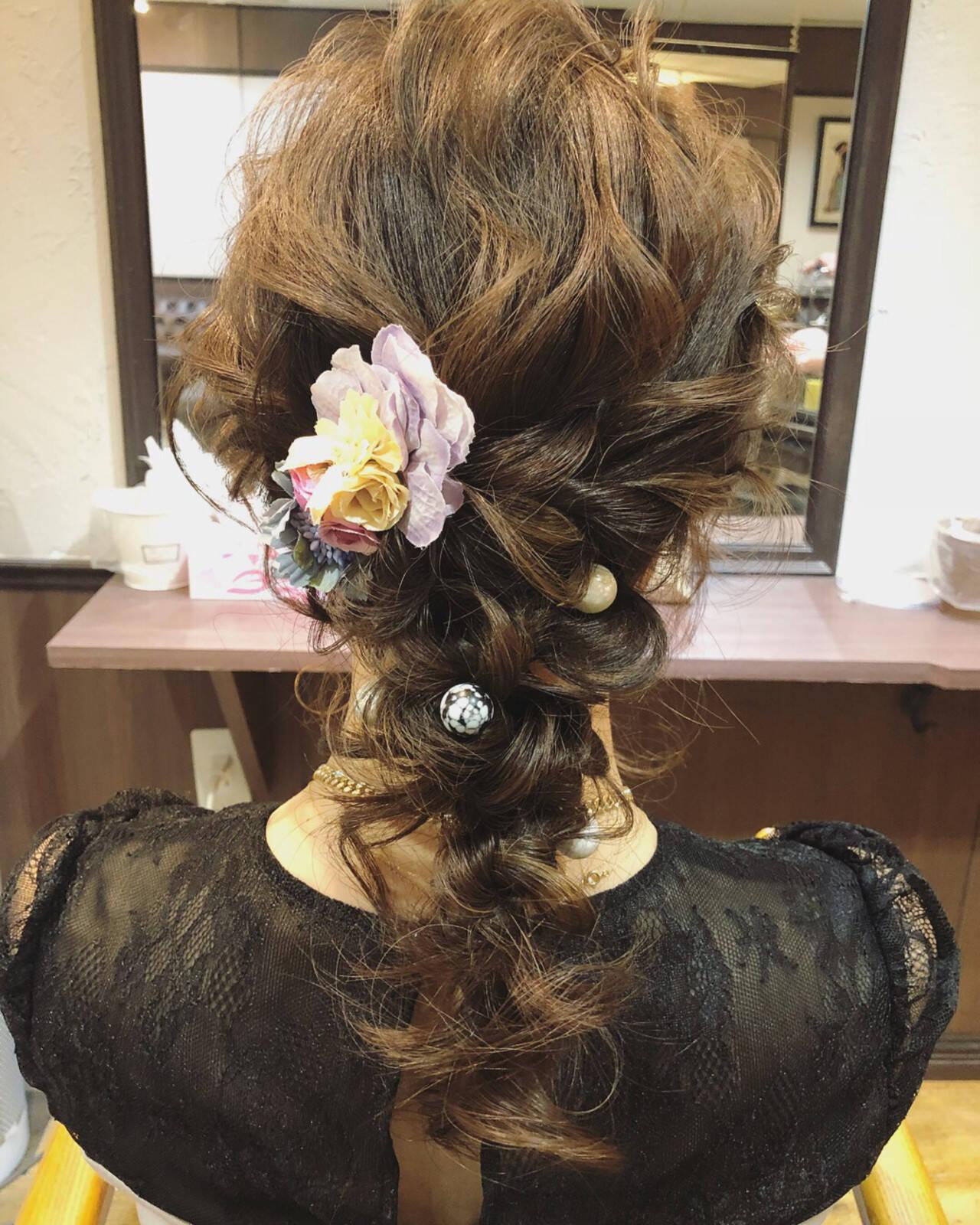 結婚式 外国人風カラー ヘアアレンジ グレージュヘアスタイルや髪型の写真・画像