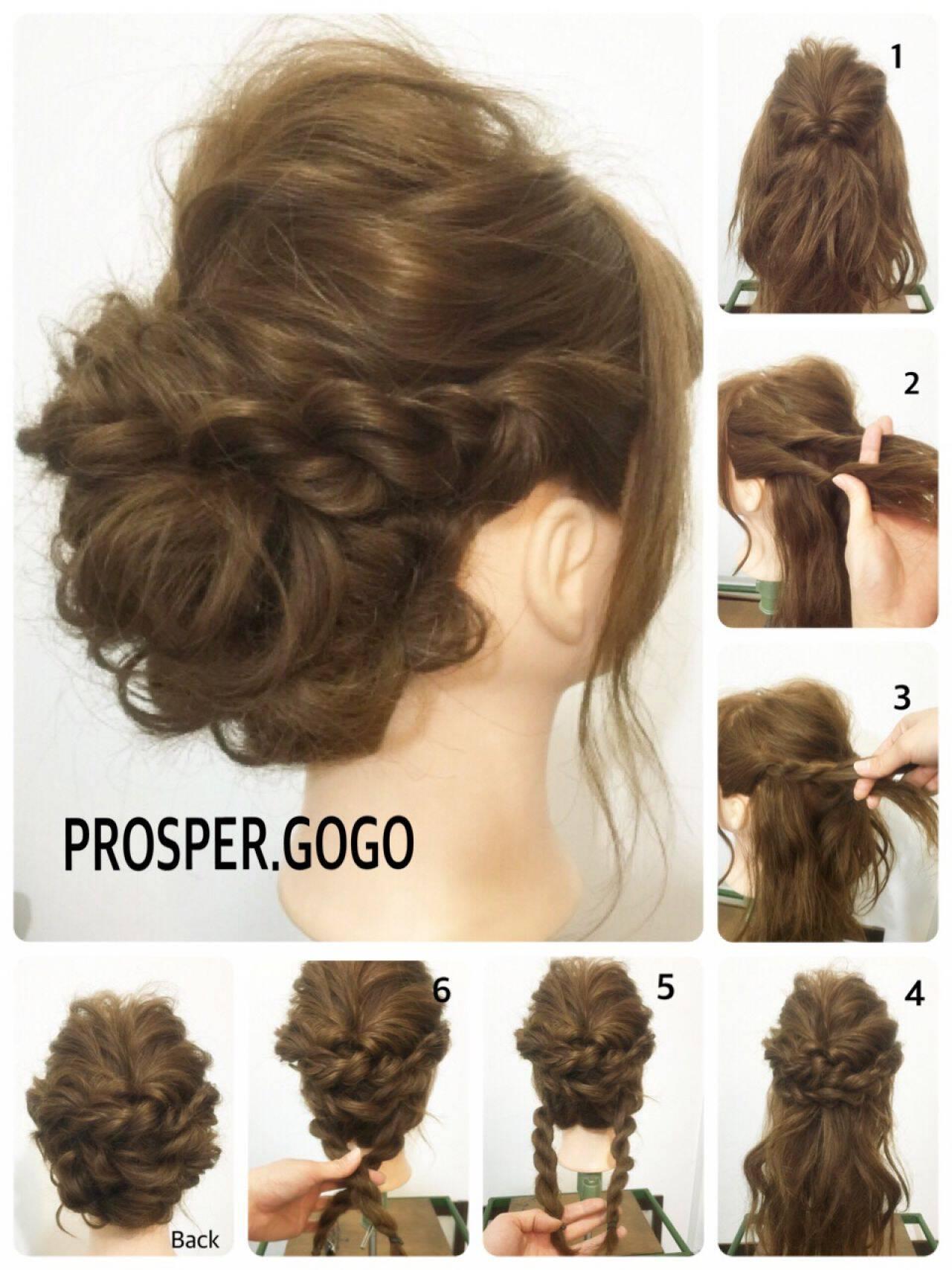 簡単ヘアアレンジ セルフヘアアレンジ 愛され コンサバヘアスタイルや髪型の写真・画像