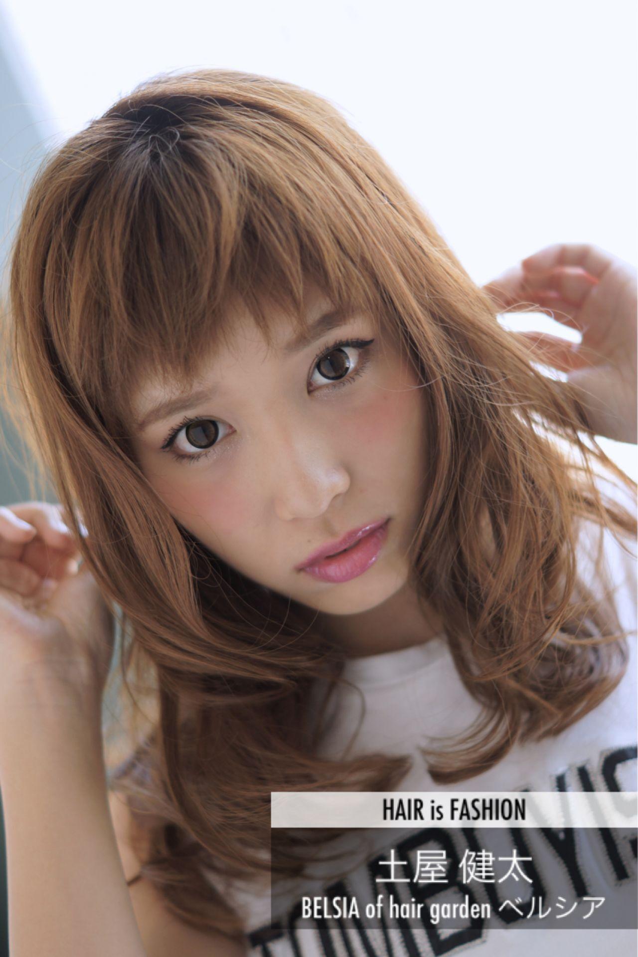 モテ髪 セミロング 色気 愛されヘアスタイルや髪型の写真・画像