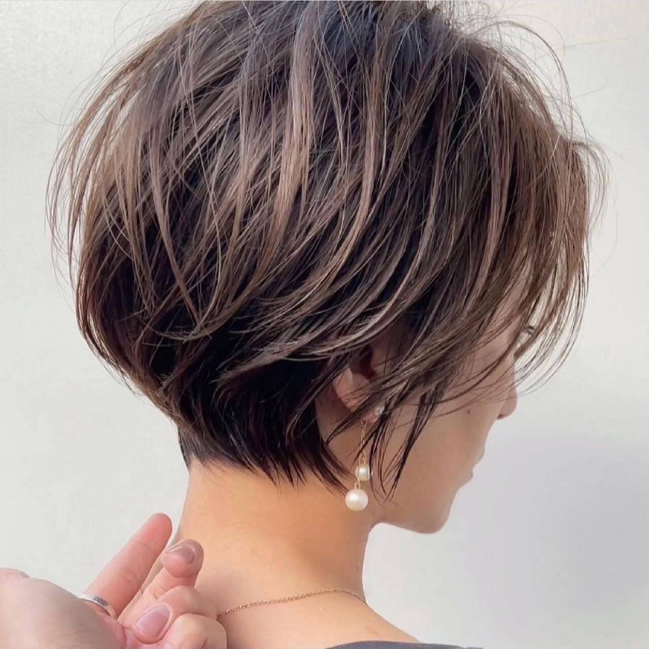 ショートヘア ショートボブ ショートカット ショートヘアスタイルや髪型の写真・画像