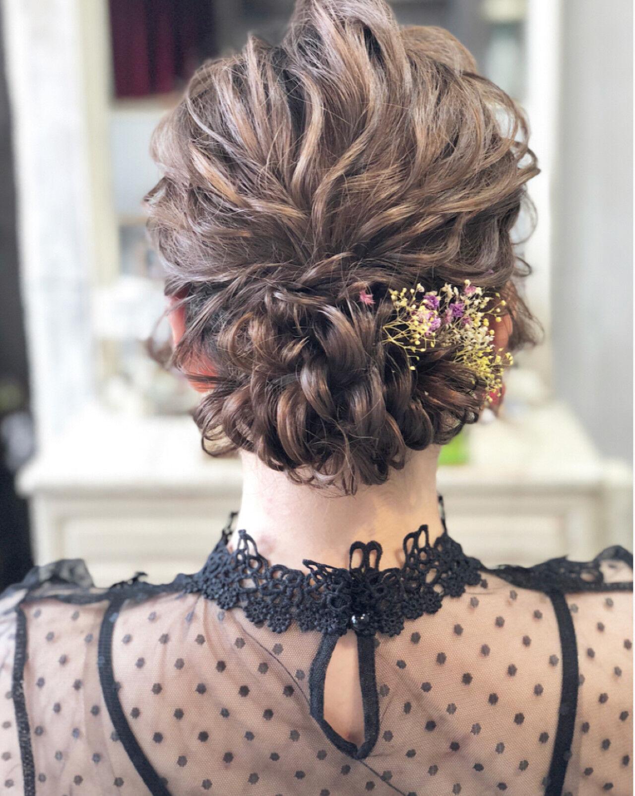 エレガント 大人かわいい シニヨン パーティヘアスタイルや髪型の写真・画像