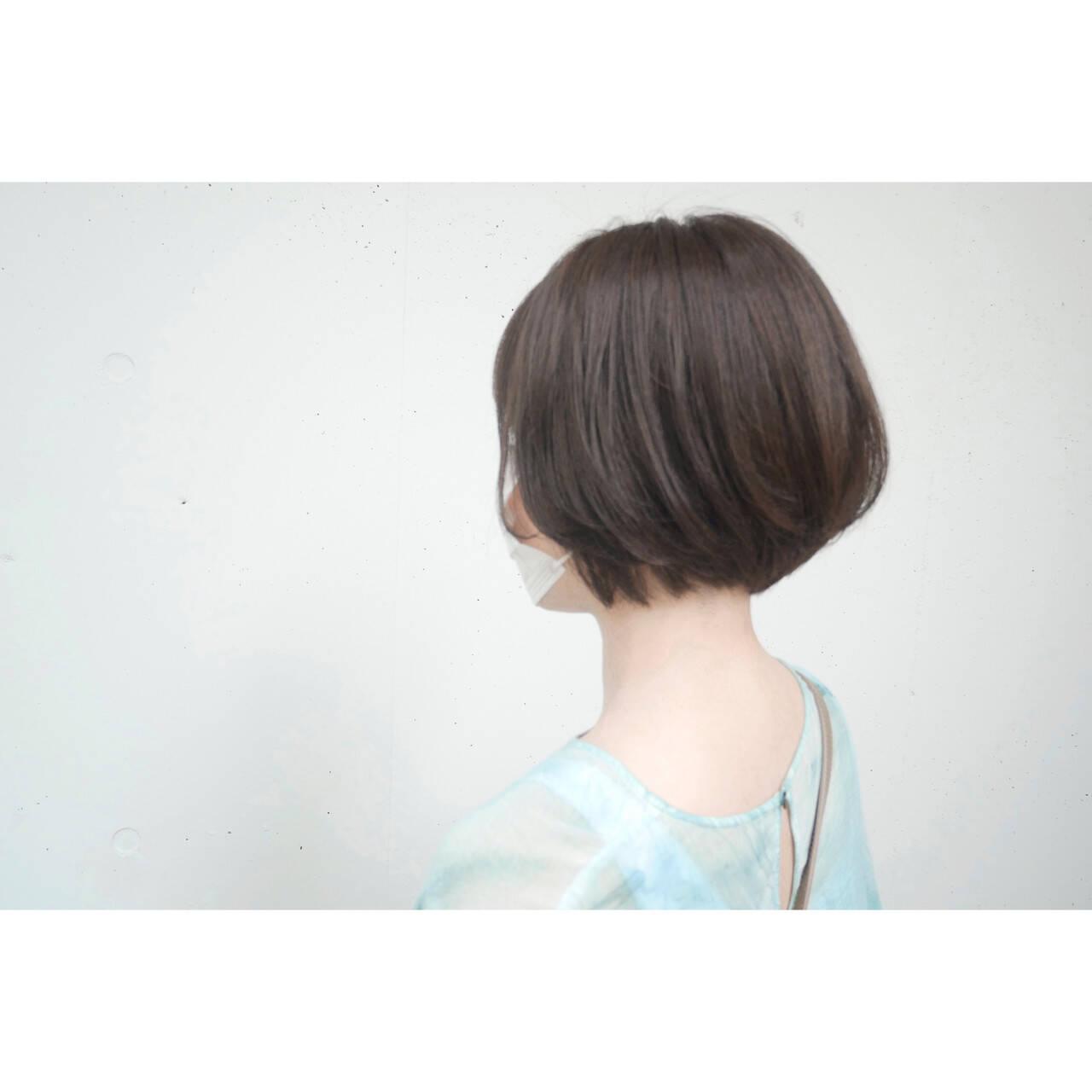 ナチュラル ショートボブ ボブ ショートヘアヘアスタイルや髪型の写真・画像