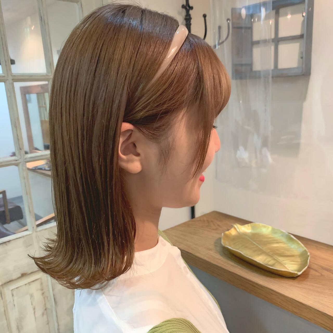 ナチュラル ボブ ショコラブラウン 透明感カラーヘアスタイルや髪型の写真・画像