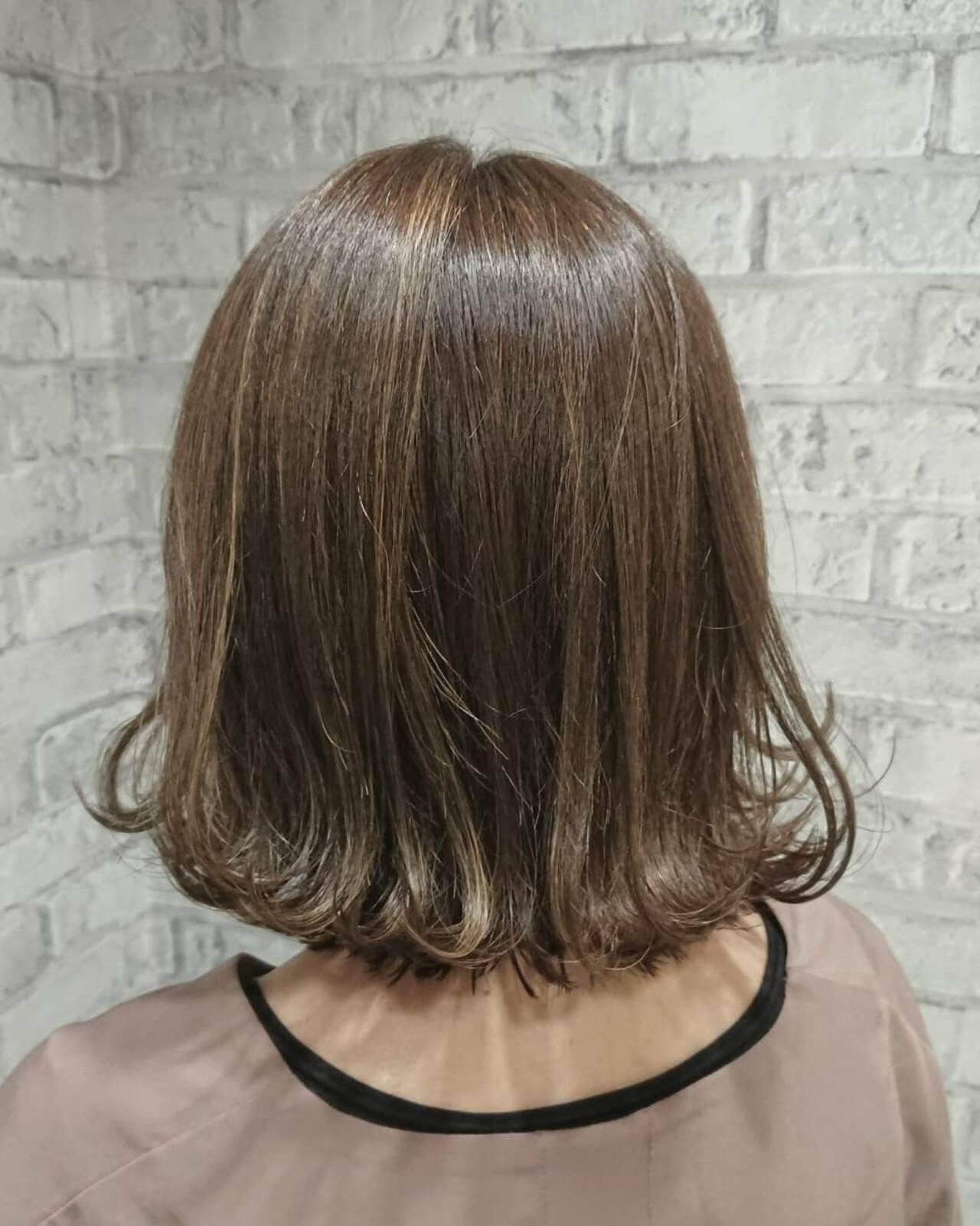 こなれ感 切りっぱなし 外ハネ ガーリーヘアスタイルや髪型の写真・画像