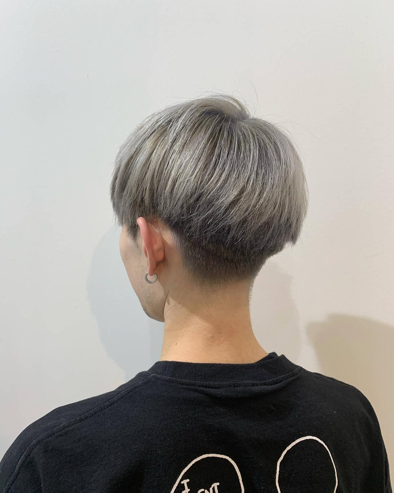 シルバー ストリート メンズ ショートヘアスタイルや髪型の写真・画像