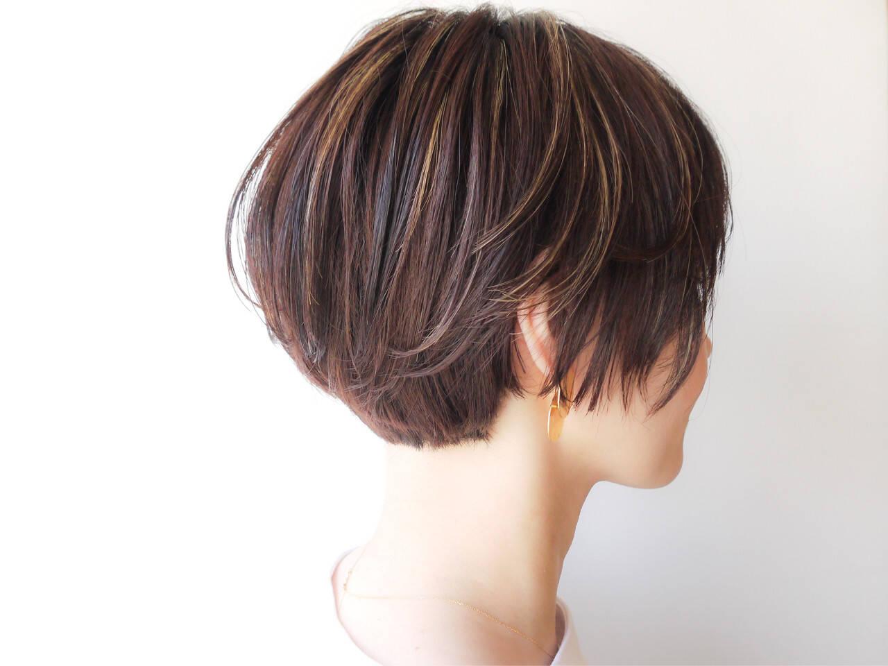 モテ髪 ゆるふわ ショートボブ コンサバヘアスタイルや髪型の写真・画像