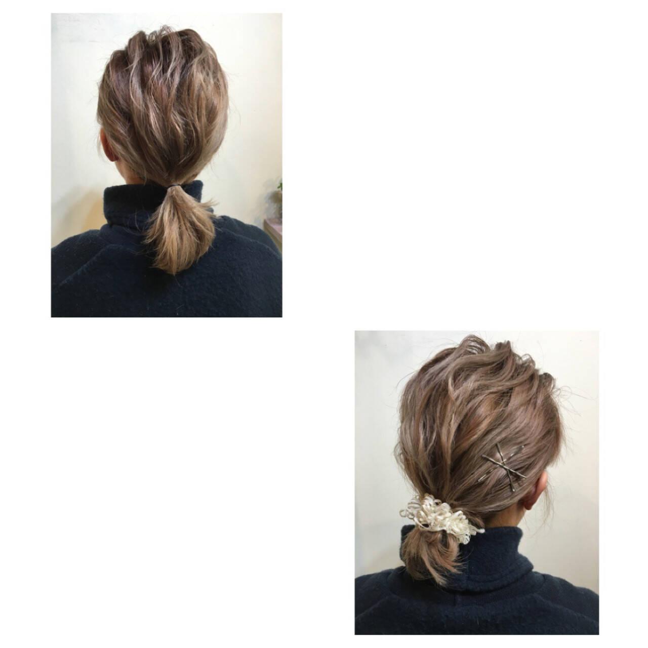 簡単ヘアアレンジ ボブ ルーズ ヘアアレンジヘアスタイルや髪型の写真・画像