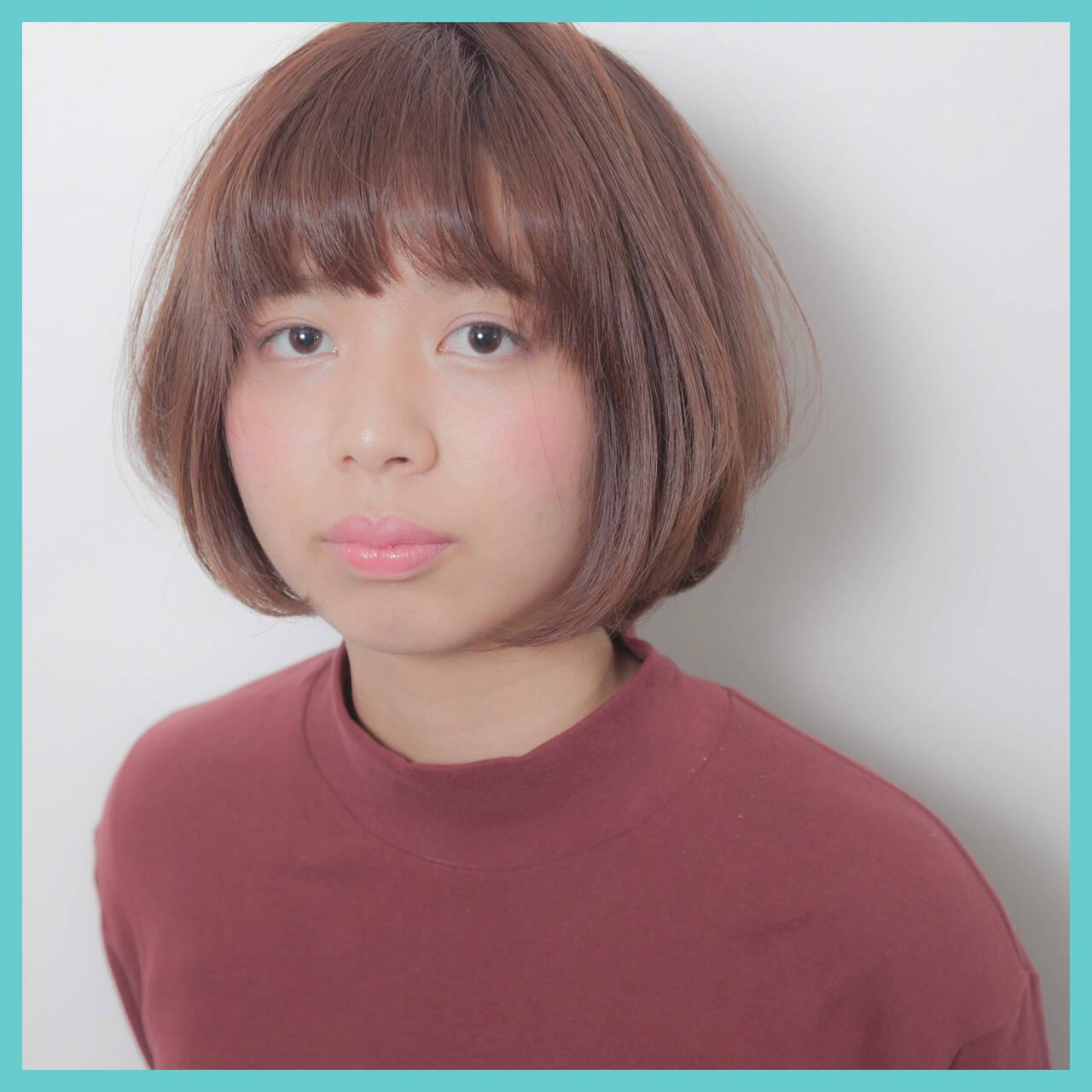 ラフ ガーリー ボブ ナチュラルヘアスタイルや髪型の写真・画像
