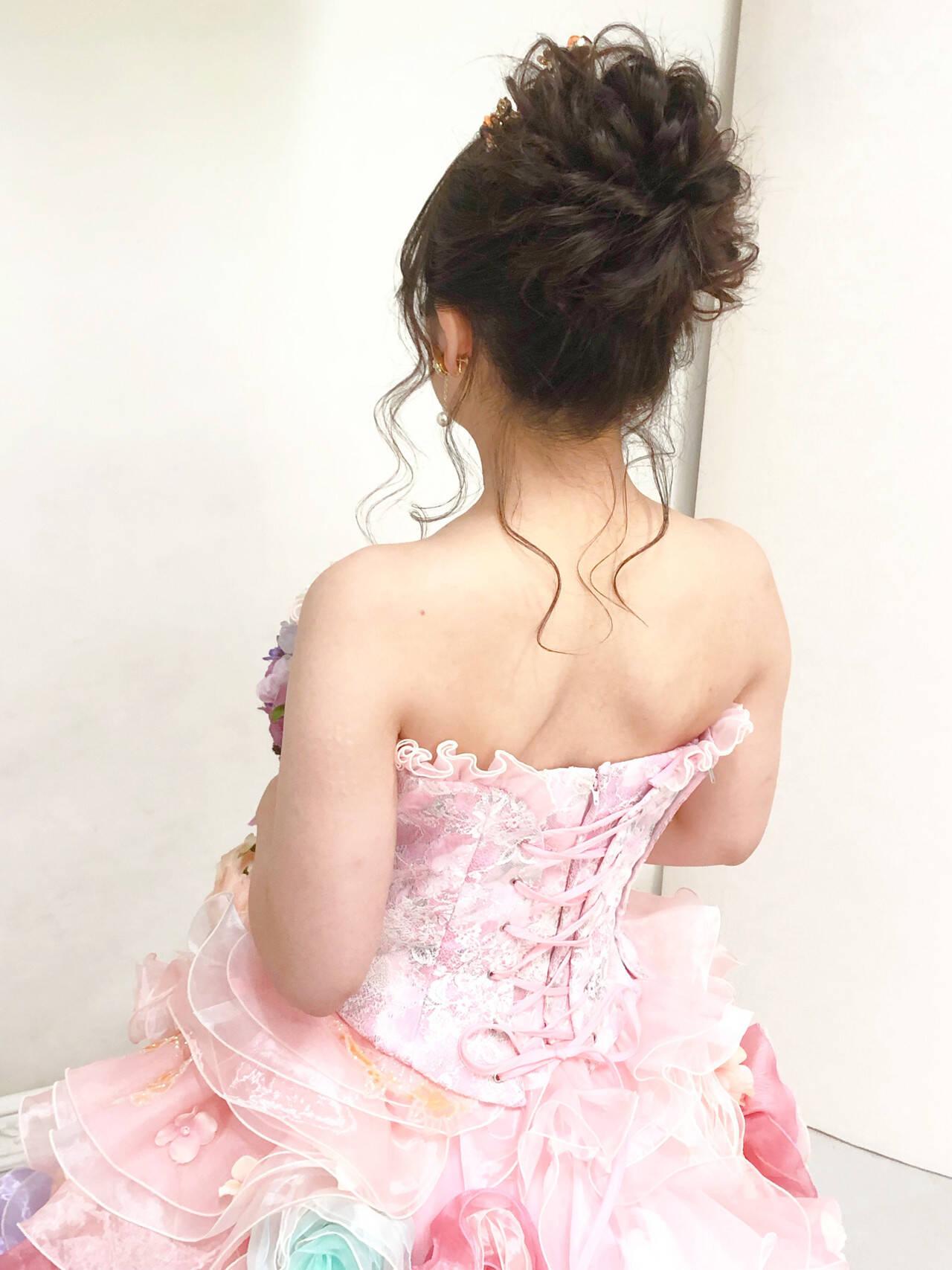 ブライダル アップ ヘアセット 結婚式ヘアスタイルや髪型の写真・画像