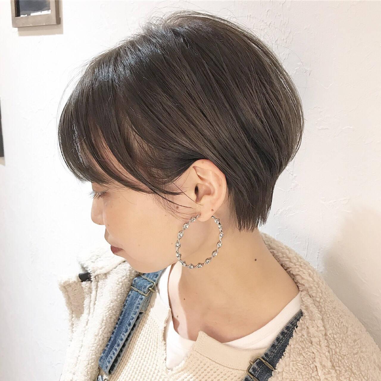 ナチュラル ショート ショートボブ ベリーショートヘアスタイルや髪型の写真・画像