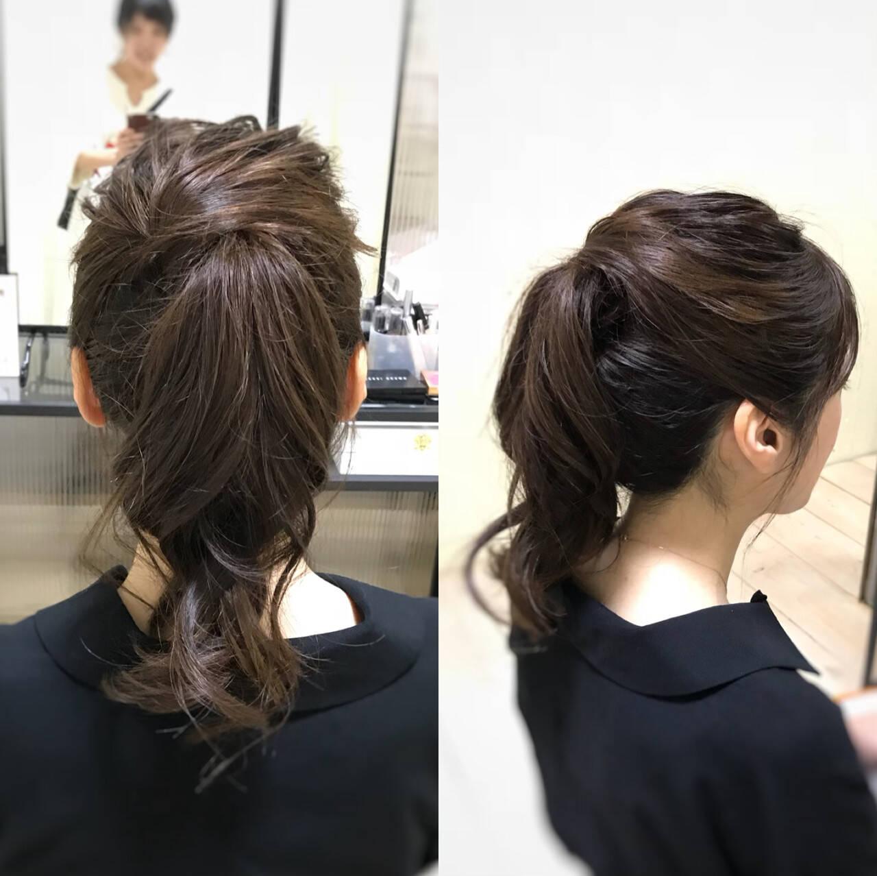 すっきり イベント ヘアアレンジ ナチュラルヘアスタイルや髪型の写真・画像