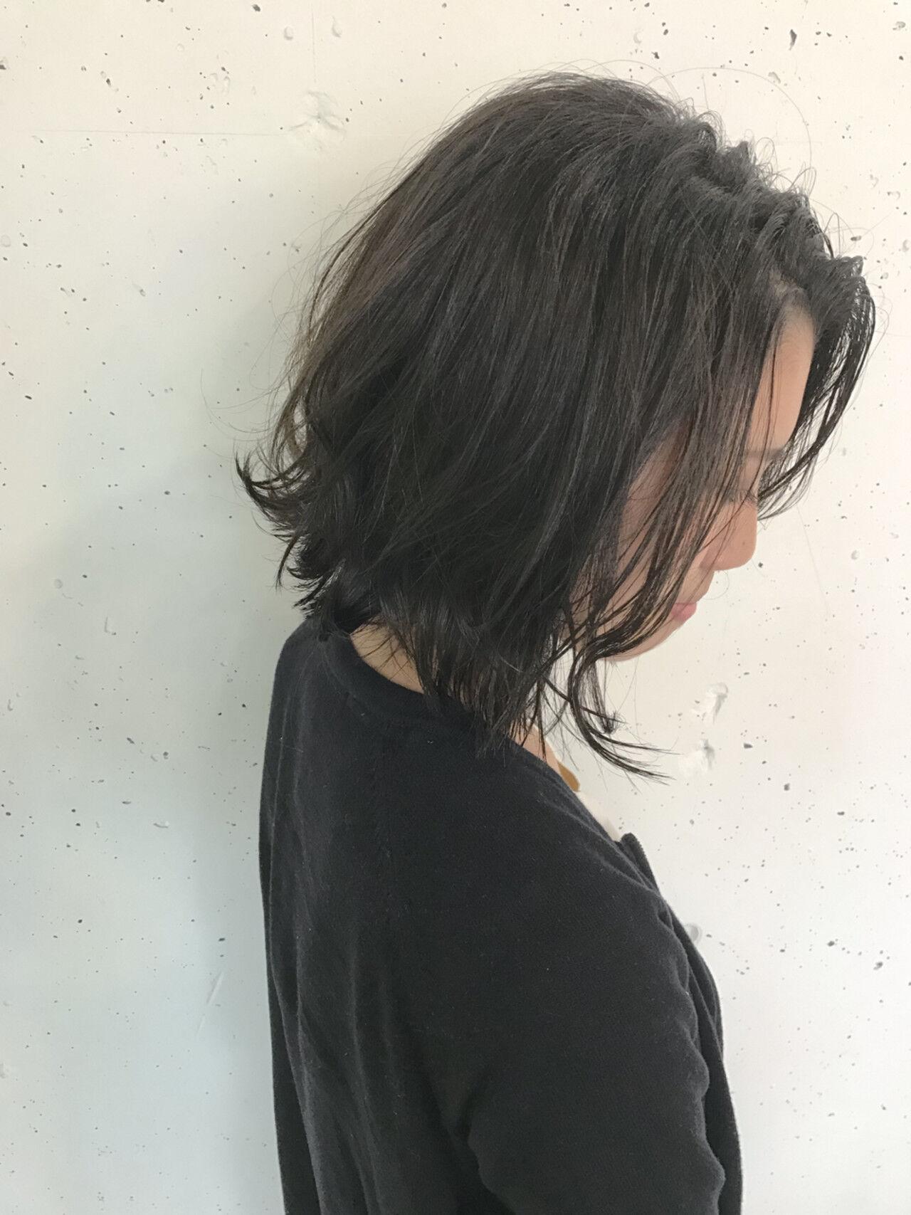 ストリート ボブ アッシュ 暗髪ヘアスタイルや髪型の写真・画像