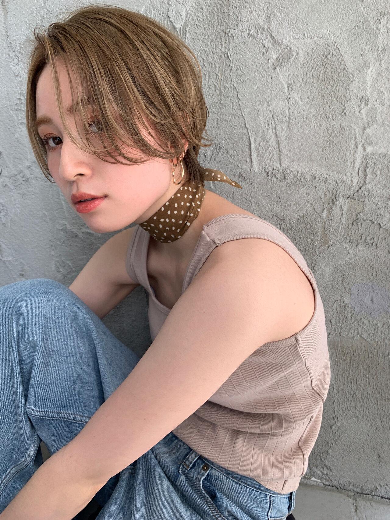 ショート ハイトーン モード ハンサムショートヘアスタイルや髪型の写真・画像