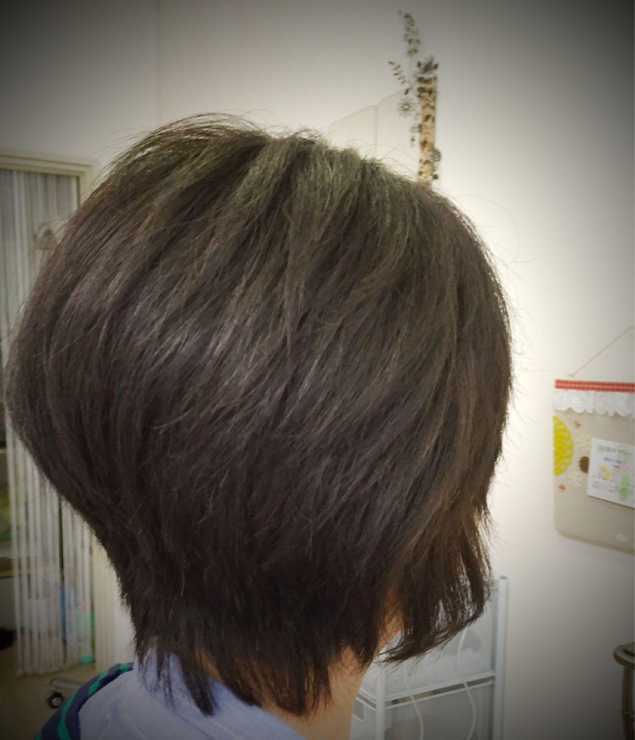 愛され ストリート フェミニン ショートヘアスタイルや髪型の写真・画像