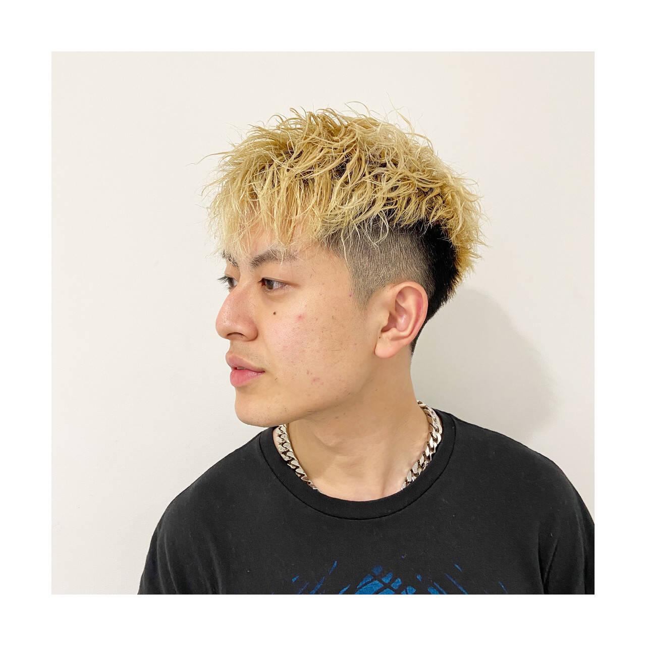 ストリート メンズパーマ メンズヘア ショートヘアスタイルや髪型の写真・画像
