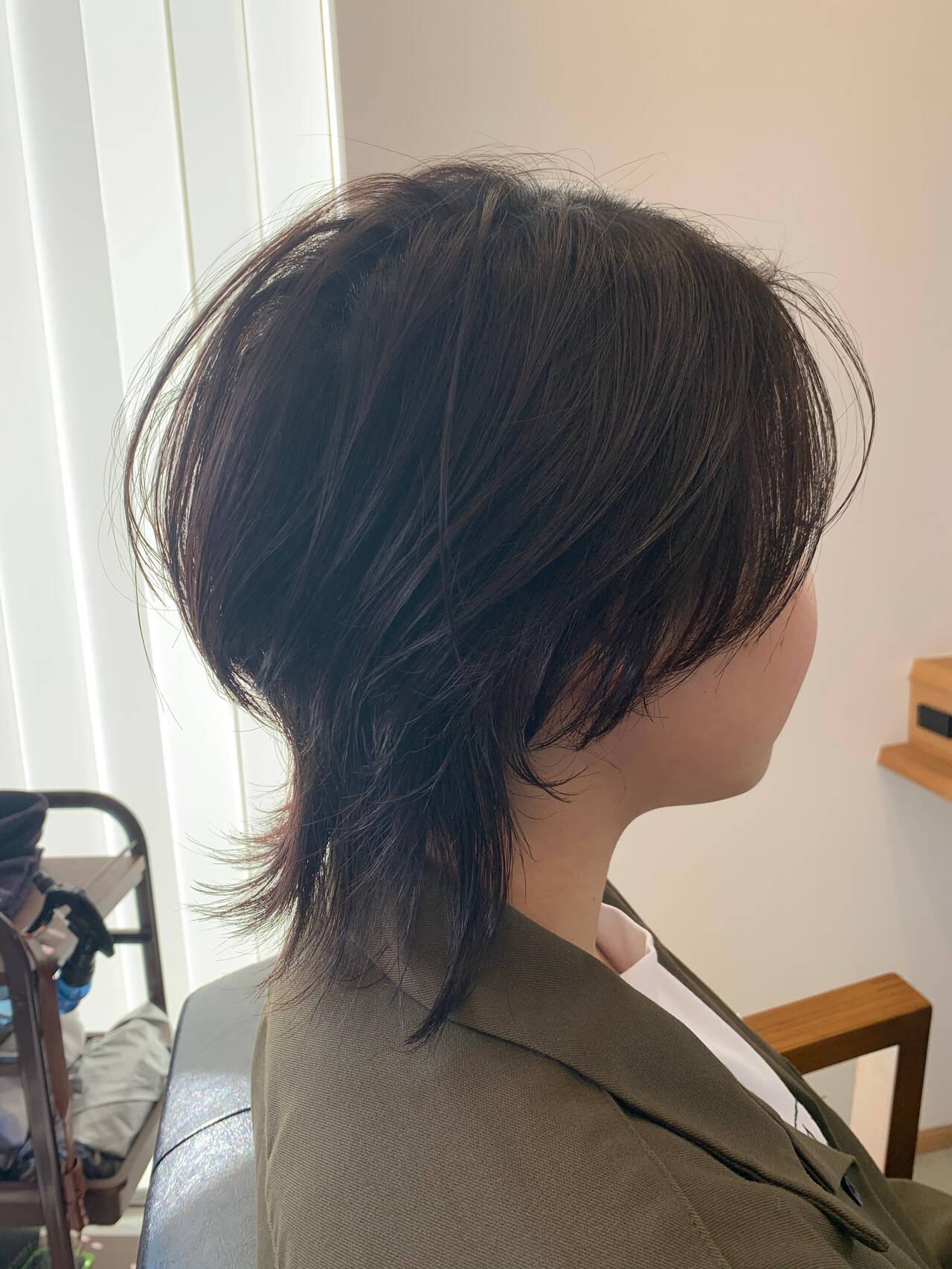 ショート マッシュウルフ ショートヘア ウルフカットヘアスタイルや髪型の写真・画像
