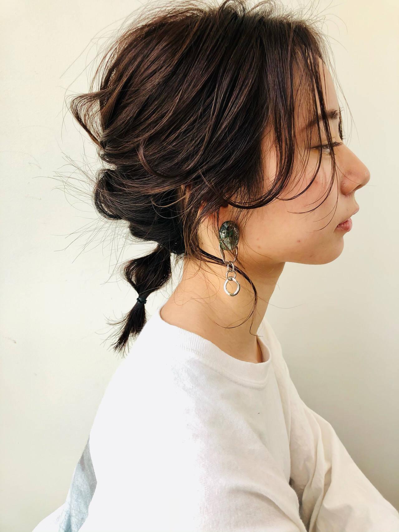 ミディアム ナチュラル N.オイル ヘアアレンジヘアスタイルや髪型の写真・画像