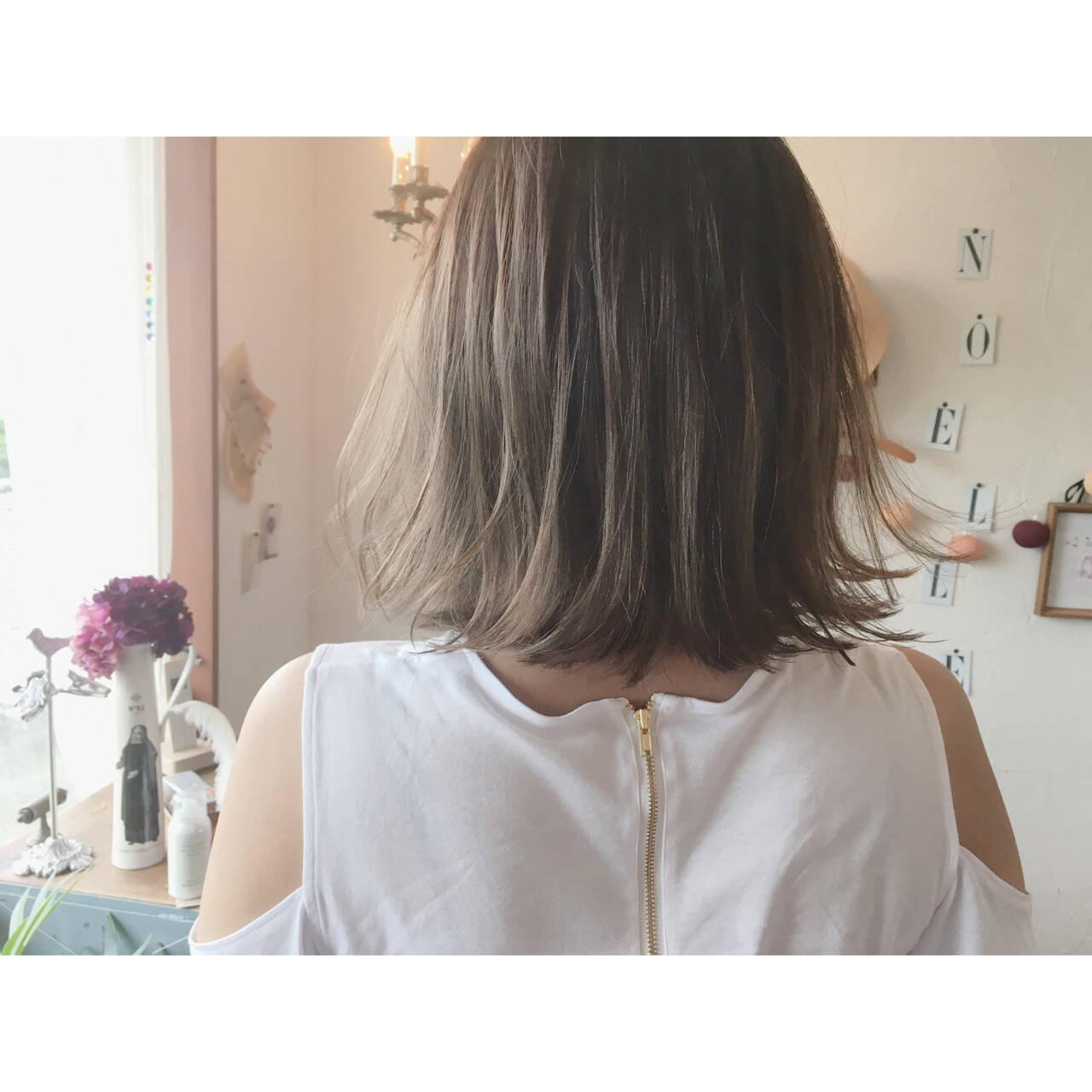 ハイライト アッシュ グラデーションカラー ストリートヘアスタイルや髪型の写真・画像
