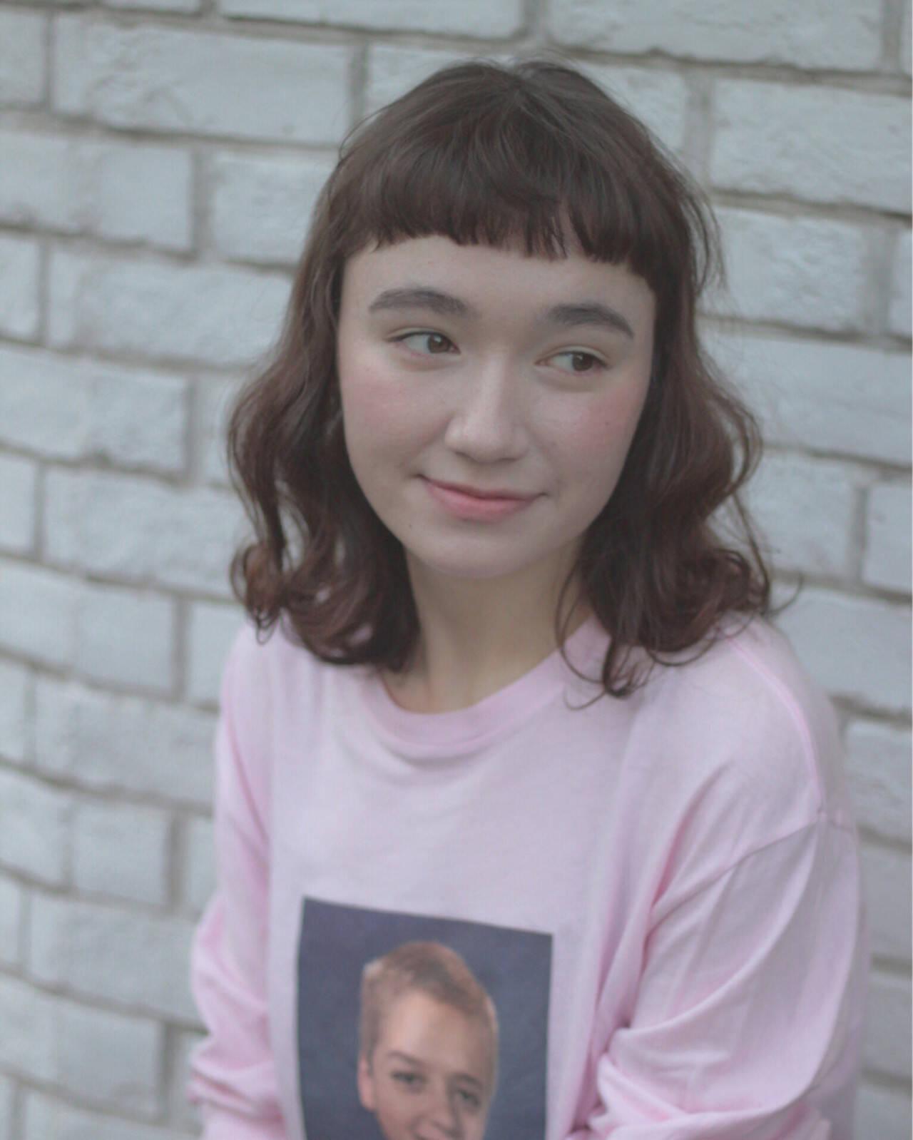 ストリート ゆるふわ 外国人風 ミディアムヘアスタイルや髪型の写真・画像