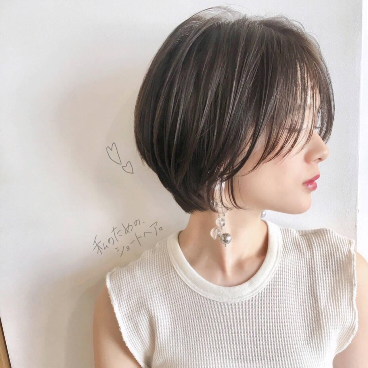 パーマ オフィス 黒髪 ナチュラルヘアスタイルや髪型の写真・画像