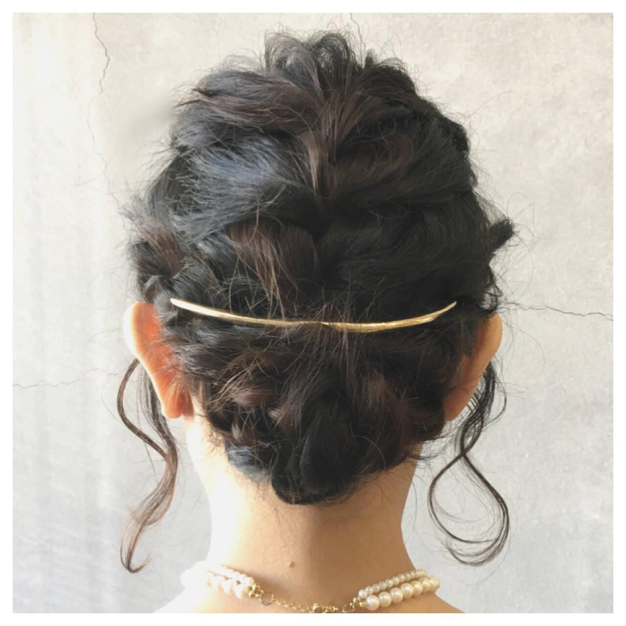 フェミニン まとめ髪 大人かわいい 結婚式ヘアスタイルや髪型の写真・画像