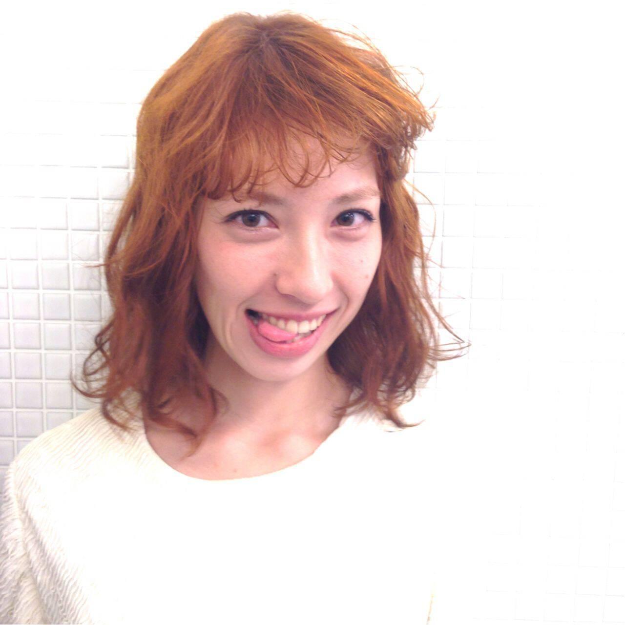 イエロー ボブ モテ髪 秋ヘアスタイルや髪型の写真・画像