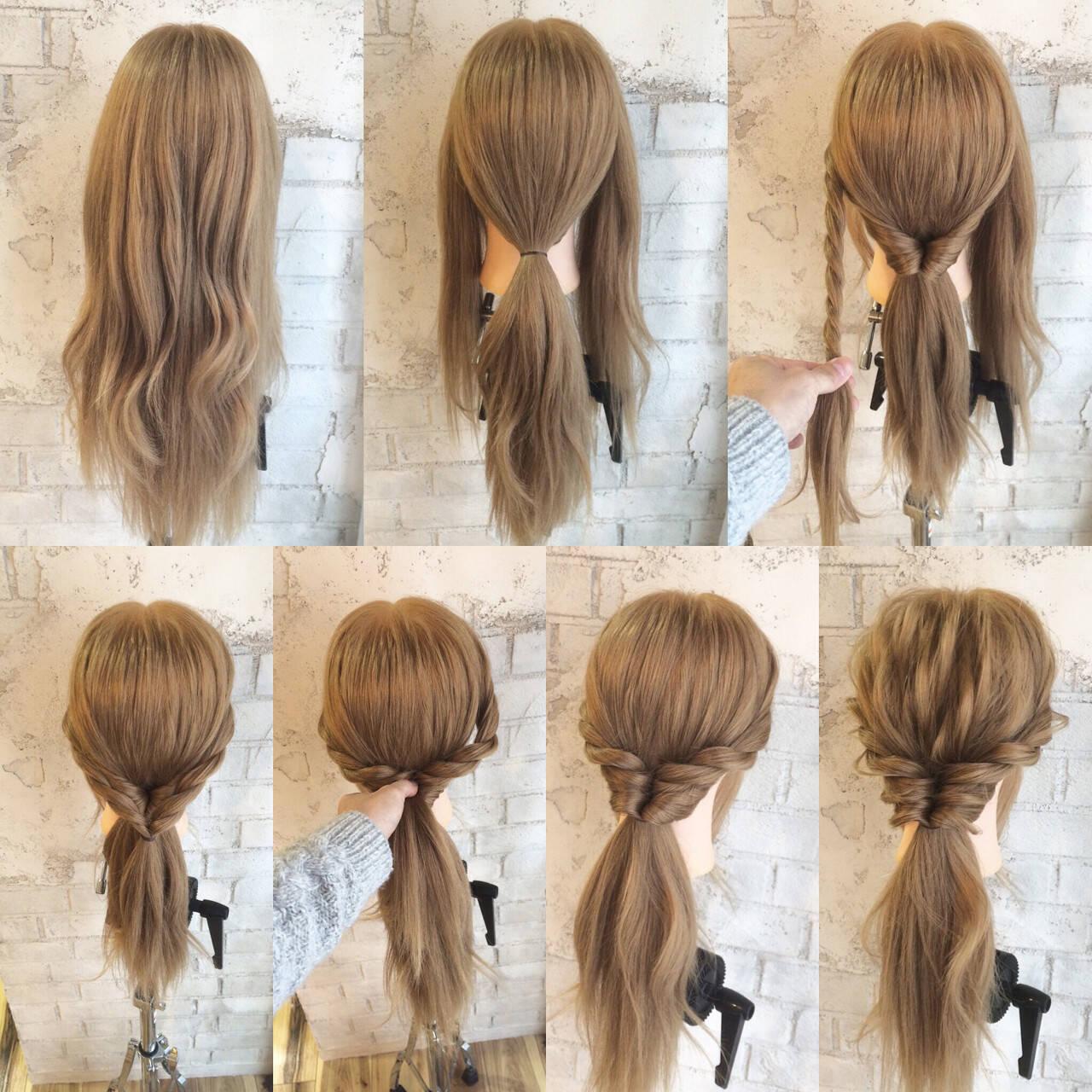 ゆるふわ ハーフアップ ロング ショートヘアスタイルや髪型の写真・画像