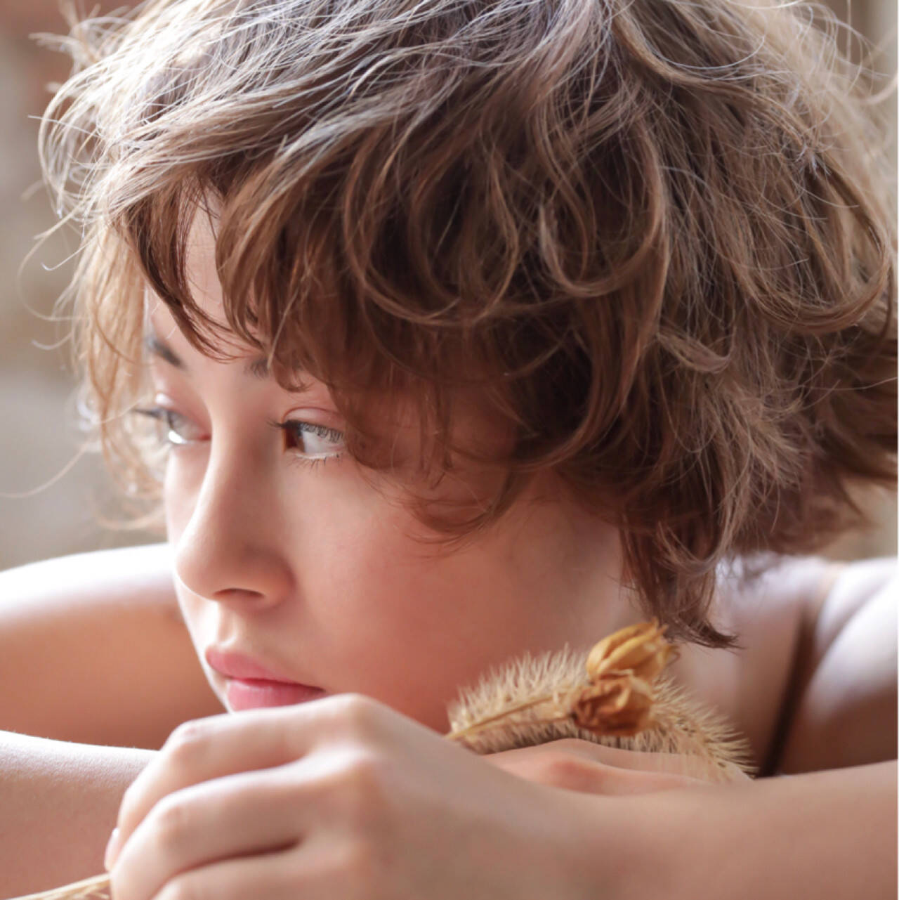ガーリー デート ゆるふわ ベリーショートヘアスタイルや髪型の写真・画像