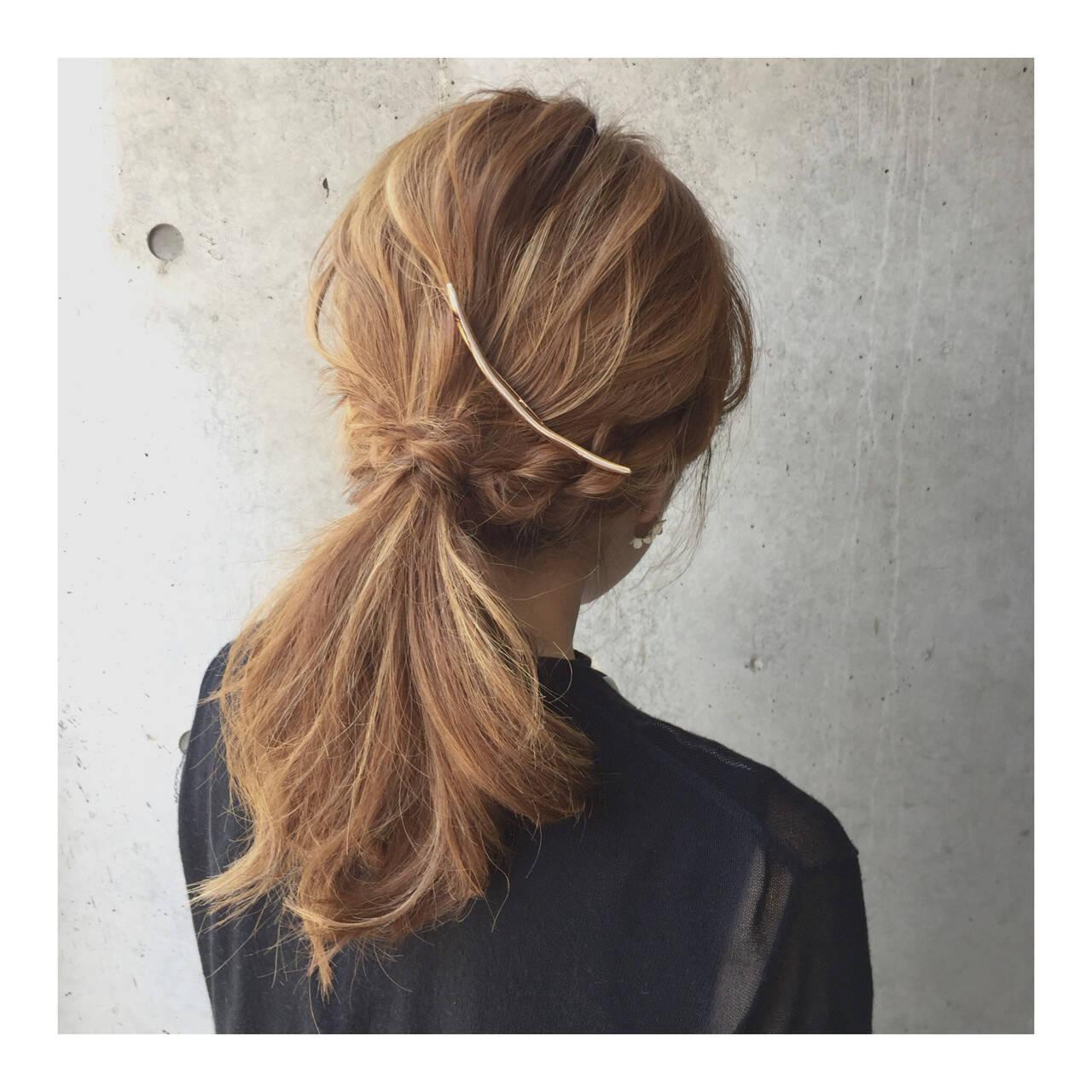 大人かわいい グラデーションカラー ショート 簡単ヘアアレンジヘアスタイルや髪型の写真・画像