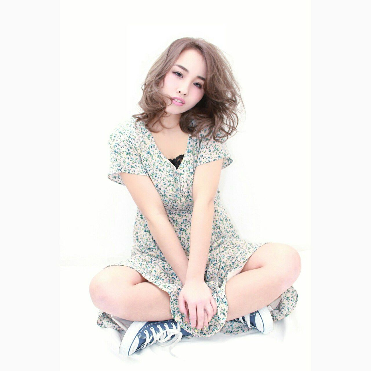 ハイライト ミディアム 外国人風 大人女子ヘアスタイルや髪型の写真・画像