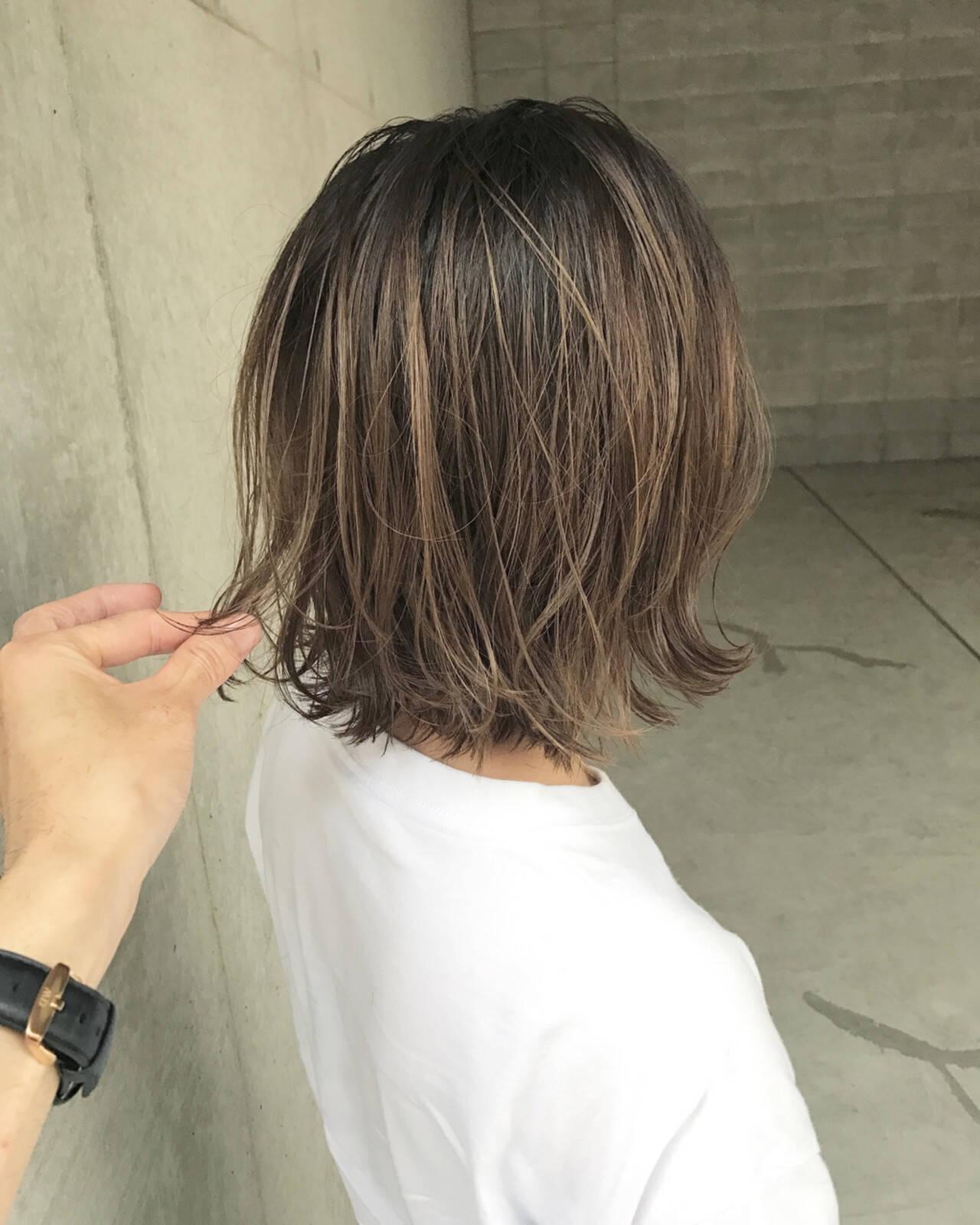 ヘアアレンジ アンニュイ ボブ ウェーブヘアスタイルや髪型の写真・画像