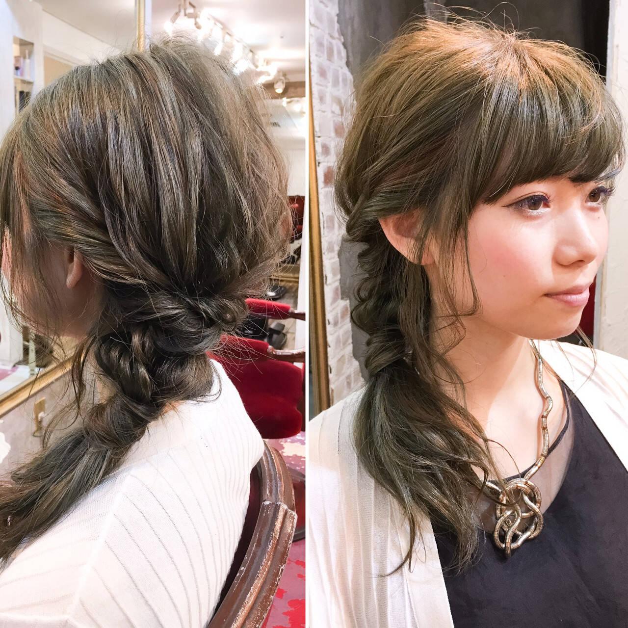 ハーフアップ ミディアム 大人かわいい パーマヘアスタイルや髪型の写真・画像