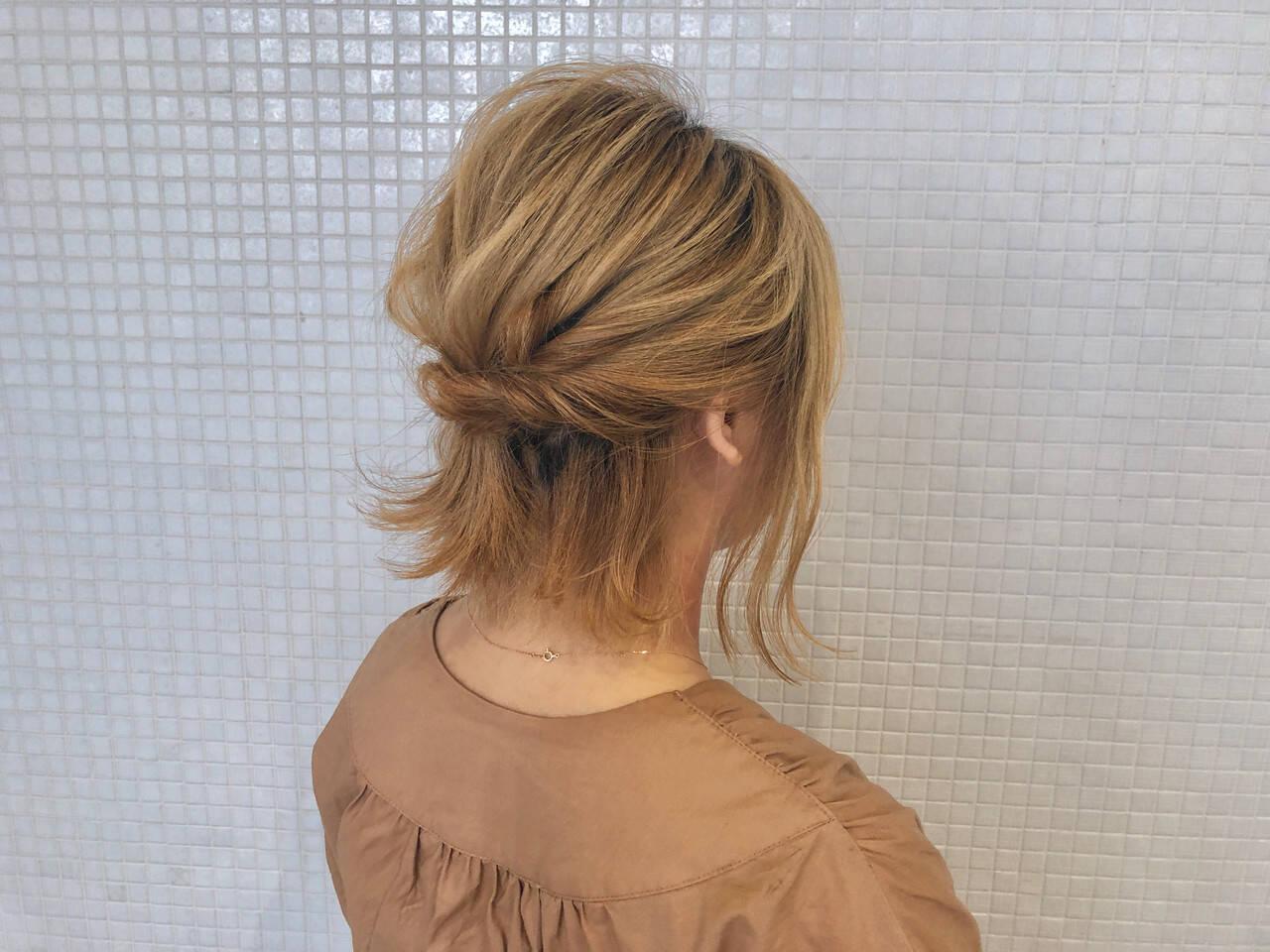 ハーフアップ 浴衣アレンジ 浴衣ヘア 簡単ヘアアレンジヘアスタイルや髪型の写真・画像