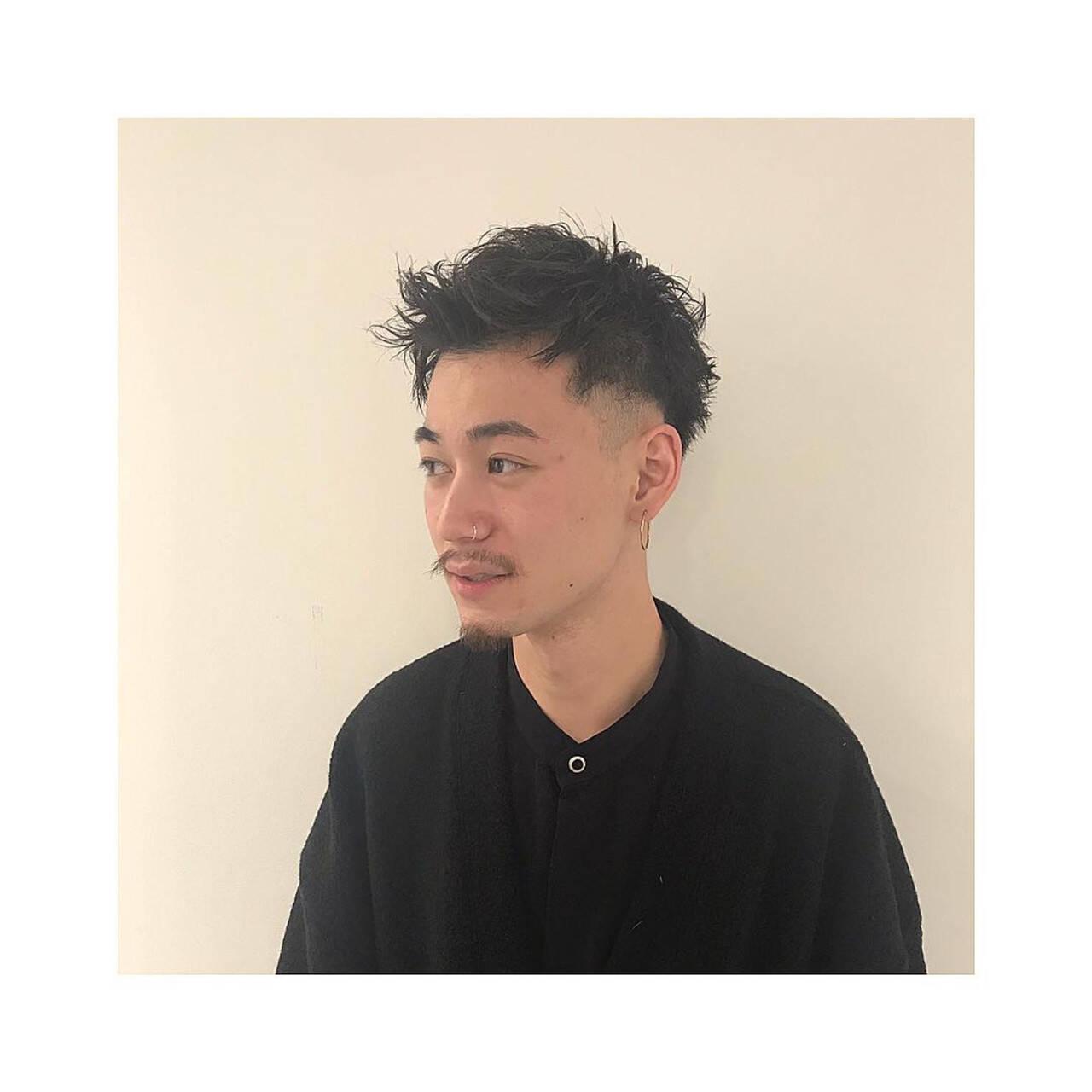 くせ毛 スキンフェード ショート メンズカットヘアスタイルや髪型の写真・画像
