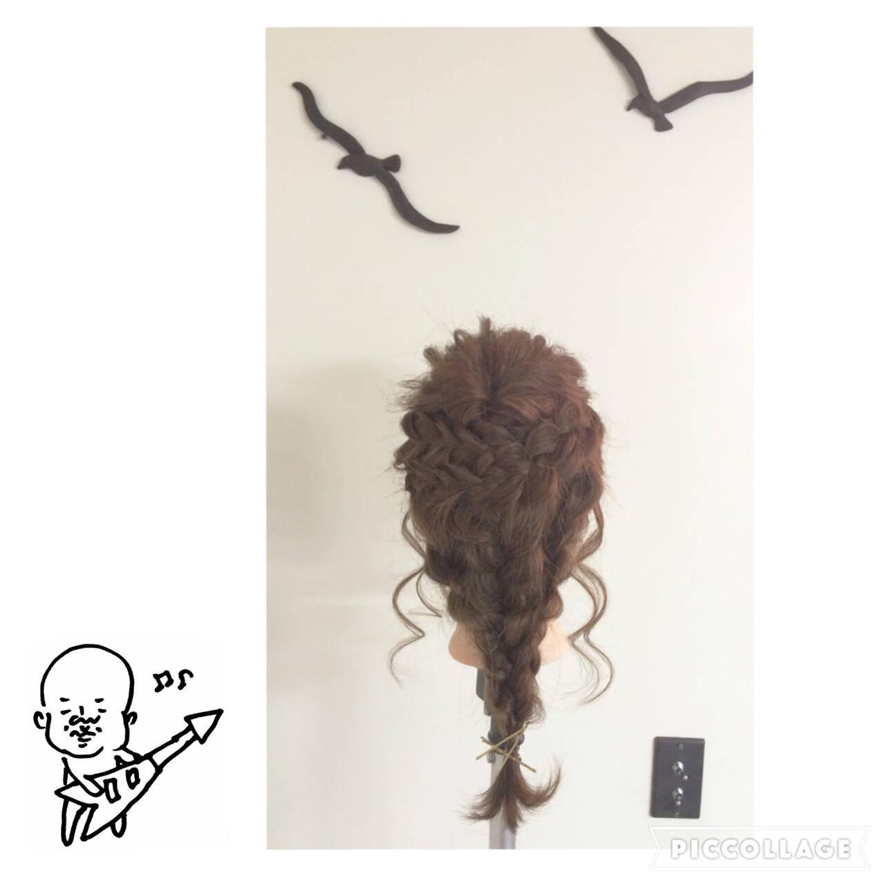 三つ編み 編み込み ロング ヘアアレンジヘアスタイルや髪型の写真・画像