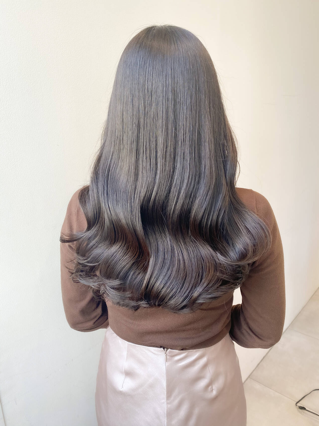 ヨシンモリ 韓国ヘア ナチュラル セミロングヘアスタイルや髪型の写真・画像