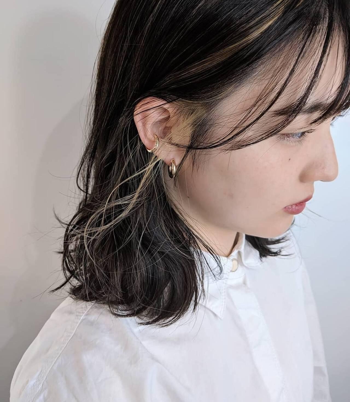 ハイライト イルミナカラー インナーカラー 大人かわいいヘアスタイルや髪型の写真・画像