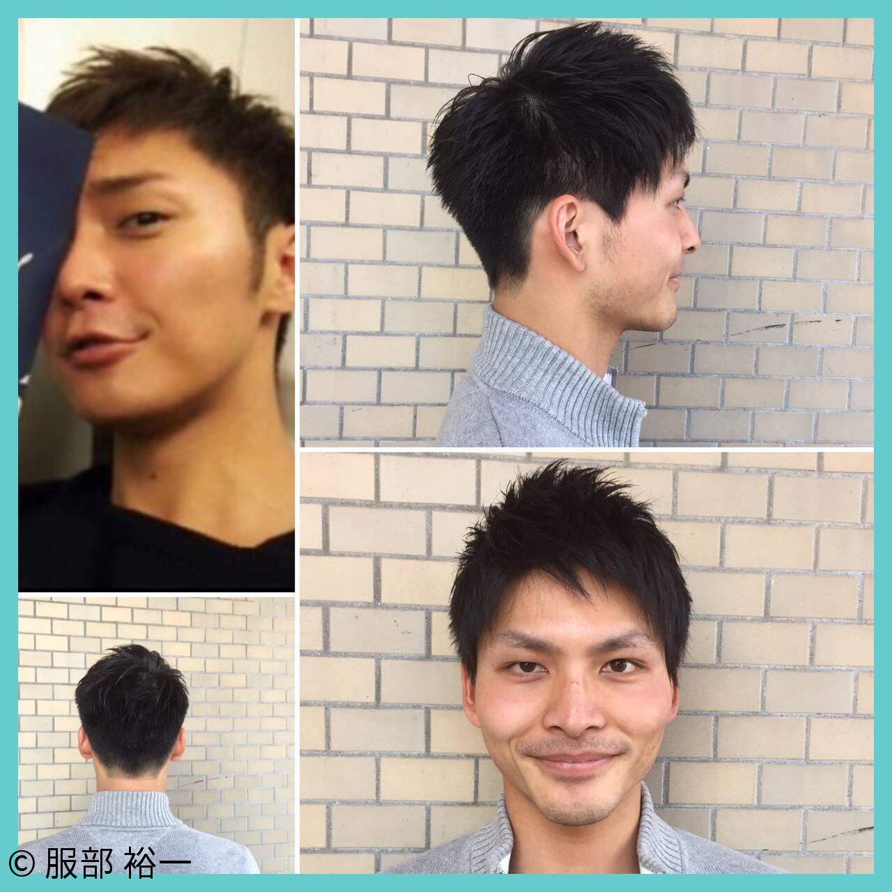黒髪 ボーイッシュ 爽やか 刈り上げヘアスタイルや髪型の写真・画像