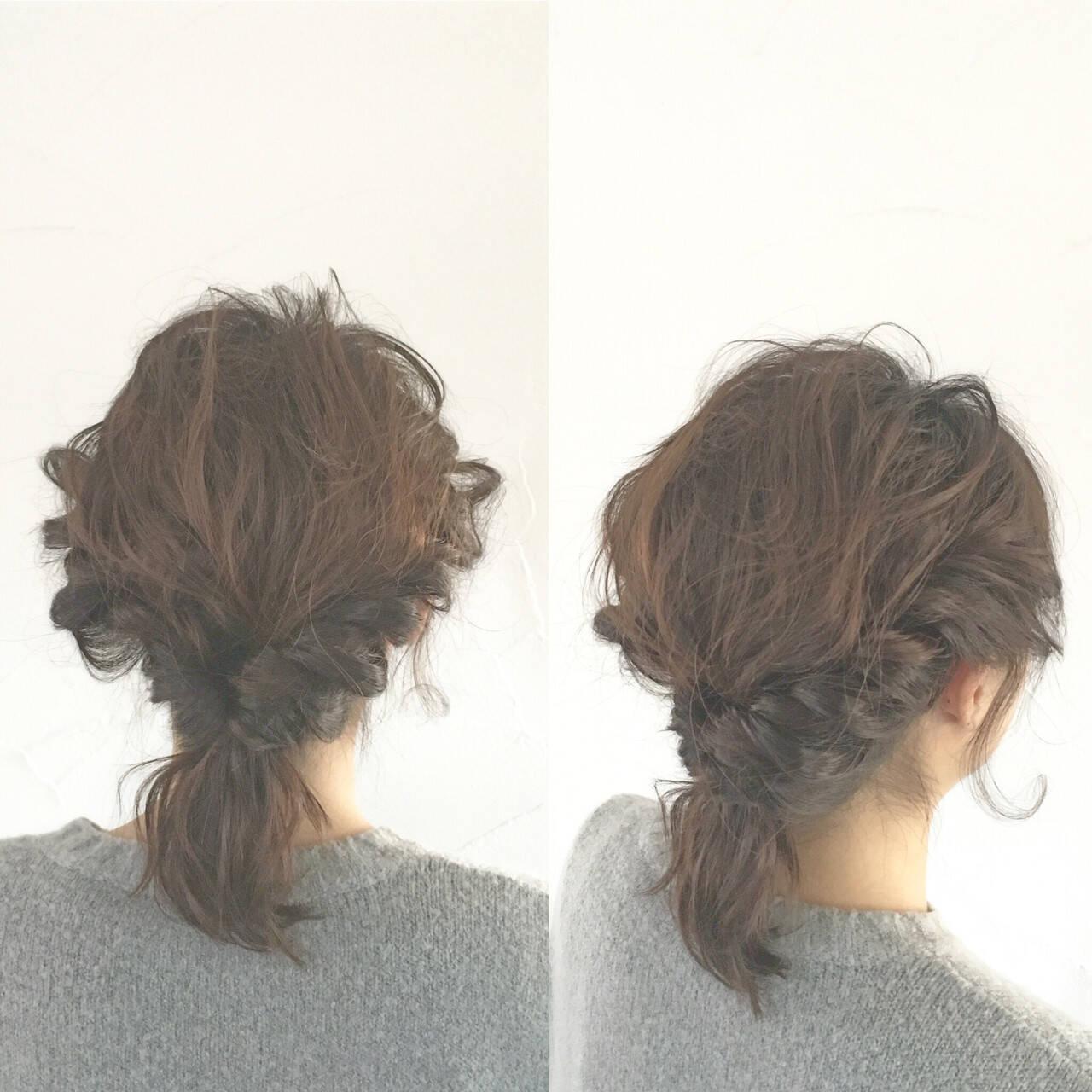 パーティ モテ髪 簡単ヘアアレンジ 波ウェーブヘアスタイルや髪型の写真・画像