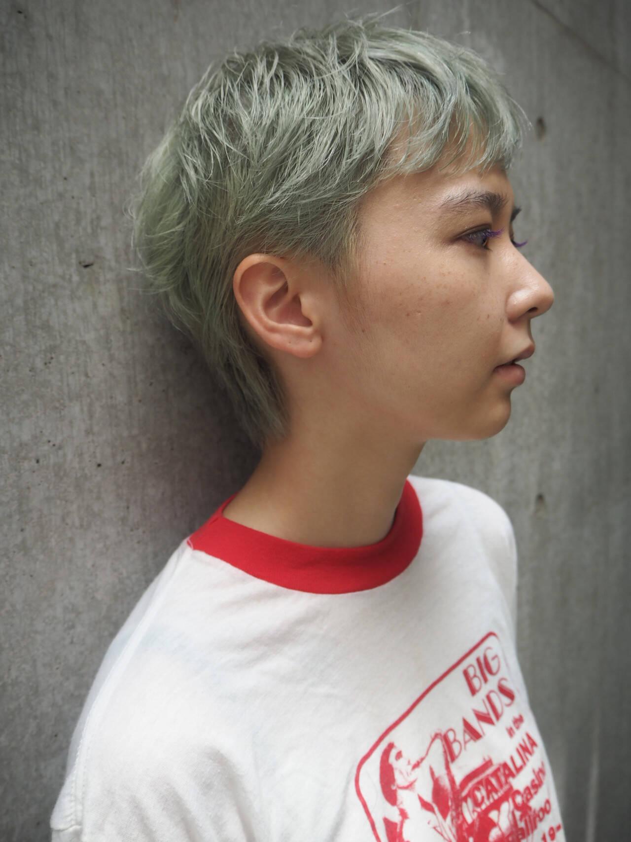 ショートヘア ベリーショート ショート ストリートヘアスタイルや髪型の写真・画像