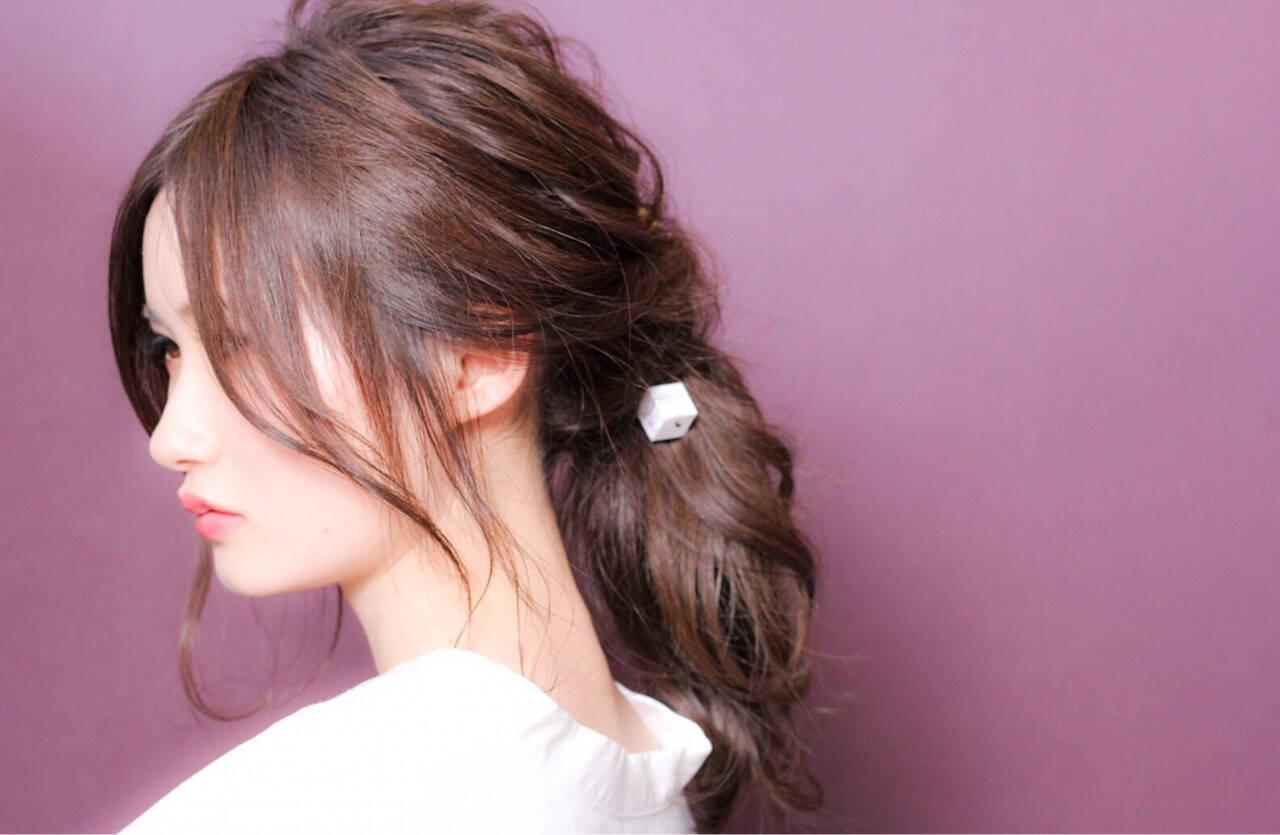 ミディアム デート クリスマス ヘアアレンジヘアスタイルや髪型の写真・画像