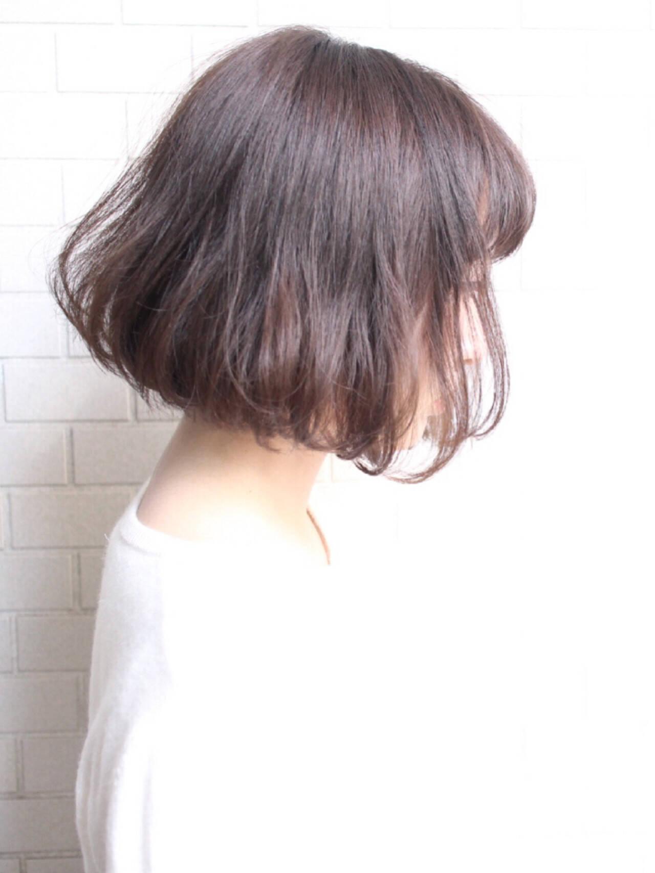 切りっぱなし 色気 エアリー ナチュラルヘアスタイルや髪型の写真・画像